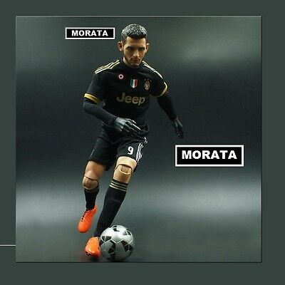 realistic ALVARO MORATA #9 JUVENTUS fc BIG football action figure 1/6 scale doll