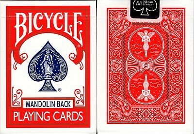 Mandolin 809 Red Back Deck Bicycle Playing Cards Poker Size USPCC New Sealed