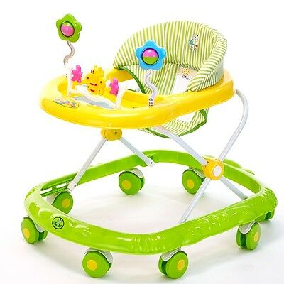 Foldable Baby Walker Musical Activity Play Tray Toy First Steps Learn Tools HOT