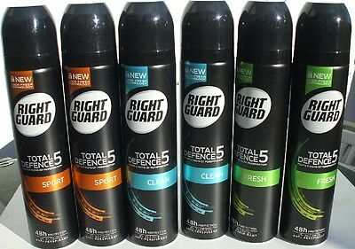Right Guard Anti-Perspirant Deodorant 2 X Large 250ml Cans. Choice of Scents