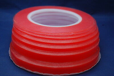 RED DOUBLE SIDED STRONG TRANSPARENT TAPE 1~12MMx33M, MULTIPLE LISTING FOR MOBILE