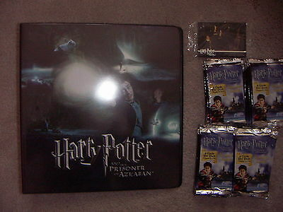HARRY POTTER AND THE PRISONER OF AZKABAN 1 x Folder 36 packs of Cards , 2 Promos