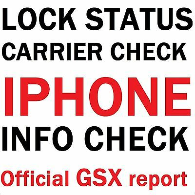 iPhone / iIPAD Carrier Check SIM-Status Checker  Apple Official GSX Report