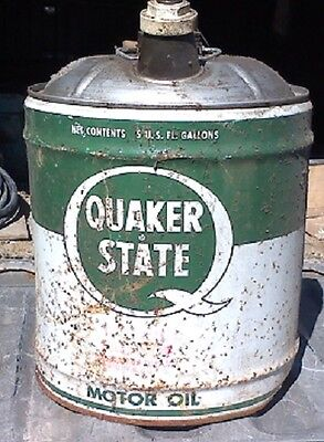 Vintage Quaker State Motor Oil 5 Gallon Can