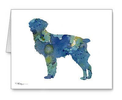 BLUE BRITTANY Note Cards With Envelopes