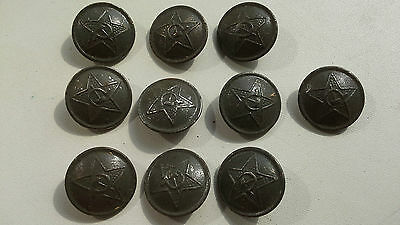 "1942 EXTREMELY RARE Red Army Buttons ""SIEGE of LENINGRAD"". RKKA. WW2"