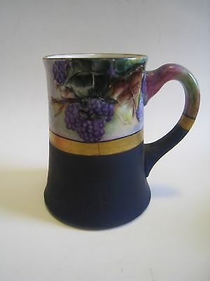 Vintage IMPERIAL PSL Austria Hand Painted & Signed Porcelain Grape Motif Mug