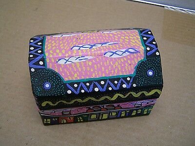 Painted Folk Art Wooden Jewelry Box - Anita Gomez - Oaxaca, Mexico