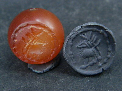 Ancient Agate Bead Seal/Stamp Near Eastern C.300 BC #BE2339