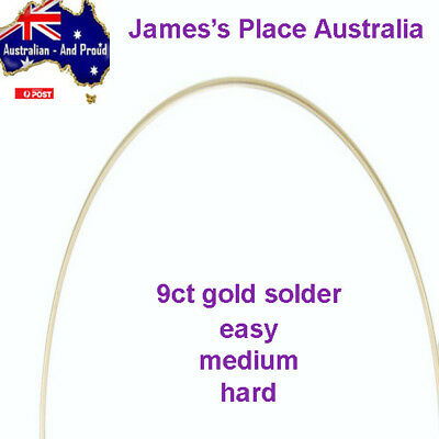 9ct Yellow Gold Solder - Easy, Medium & Hard