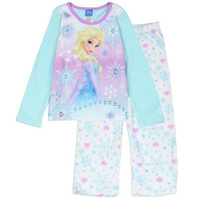 Official Licensed FROZEN Girls 4-10Yrs 2PC Pajama Set Flame Resistance
