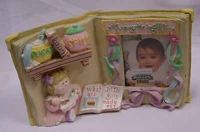 "Holson Baby Girl Picture Frame ""sugar And Spice Everything Nice"""