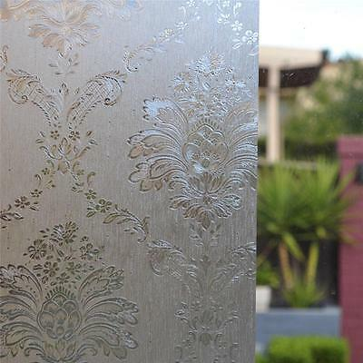 90cm x 5m Static Glueless Reusable Removable Privacy Frosted Window Glass Film