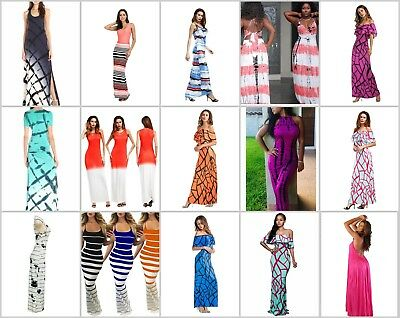 wholesale lot of 10 long dress maxi sundress beach dress Discount Hippie Clothes