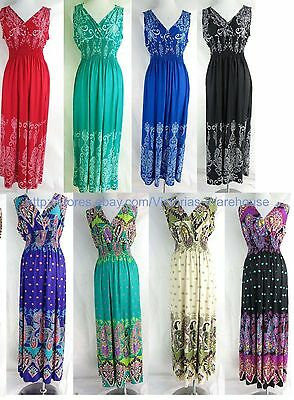 wholesale lot of 4 long dress maxi sundress beach Hippie Clothing dress halter