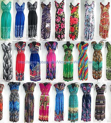 wholesale lot of 20 long dress maxi sundress beach Bohemian Clothes women summer