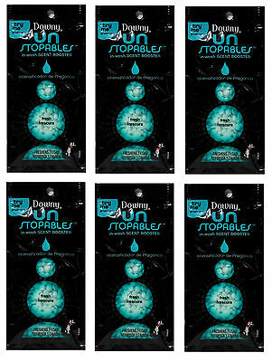 DOWNY Un Stopables FRESH Scent Booster Single 1 Load Travel Size Unstopables 6Pk