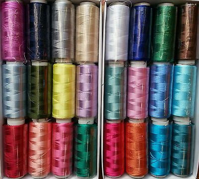 25 Embroidery Silk Rayon Threads Spools Brother, Janome Singer more Best Quality