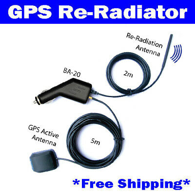49dB GPS Antenna Amplifier Receiver Repeater Radiator BA-20 for Car