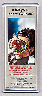 FUTUREWORLD - WIDE movie poster LARGE FRIDGE MAGNET - 70's Sci-Fi CLASSIC!
