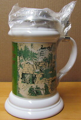 Heileman's OLD STYLE BEER 1995 Limited Edition Lidded Stein Tall Version