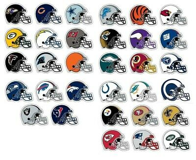 NFL Football Decal Sticker Helmet Design Licensed Choose from all 32 Teams