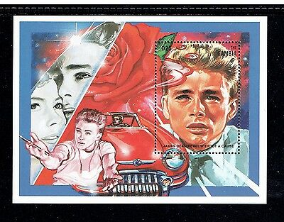 """Gambia 1672, 1995 """"hundred Years Of Cinema,"""" James Dean, S/s, Mnh (Id3547)"""