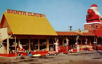 1940s-50s Toyland in Santa Claus, CA Kodachrome Toy Story Shop Christmas G3