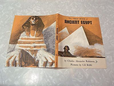 The First Book of Ancient Egypt by Charles Alexander Robinson Jr 1st Ed DJ Only
