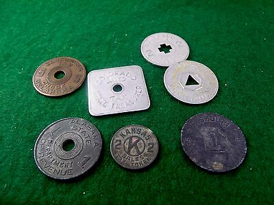 Nice lot of Very Early State Sales Tax Tokens All Metal Mississippi Kansas Color