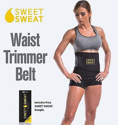 Sweet Sweat Belt Slimmer Belt Waist Trimmer Belt Weight Loss Aid and Fat Burn...