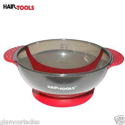 Hair Tools Red Suction Hair Colouring Tint Bowl, Salon Hairdressing