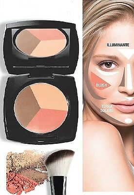 Terra Solare Blush Illuminante 3 In 1 Avon Contouring Make Up Trucco Viso Fard