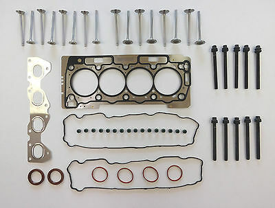 Head Gasket Set Bolts Valves 206 307 1007 Partner 1.6 16V Tu5Jp4 Nfu N6A Vrs