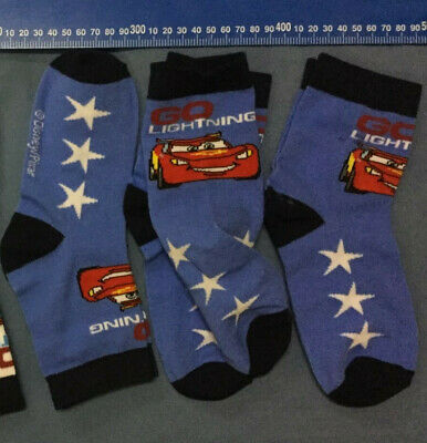 BULK. 7 pairs Kids Boys Car Disney Casual Socks ..fits 5-8 years size 13-3