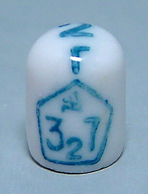 CCCP 2 gram WEIGHT with SICKLE HAMMER 1937 PORCELAIN Ceramic Old Russian Soviet