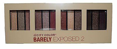 CITY COLOR Barely Exposed 2 Eyeshadow Palette (12 Farben) NEU&OVP