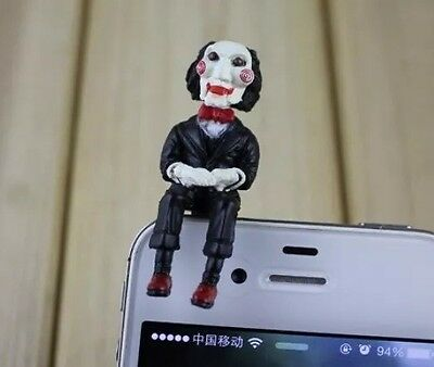 SAW Movie Jigsaw Charm Dust Plug Mobile Phone Tablet iPhone Universal 3.5mm Fun