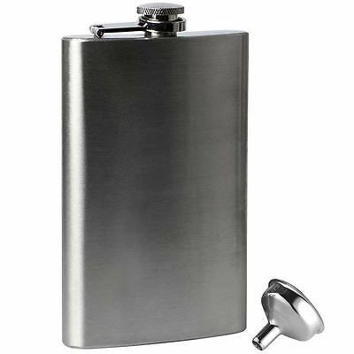 10oz Stainless Steel Hip Flask and Funnel Whisky Pocket Set