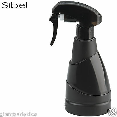 Sibel Black Micro 220ml Atomizer, Salon Hair Water Styling Spray Bottle