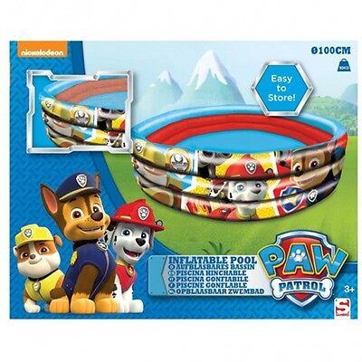 Paw Patrol Inflatable 3 Ring 100 cm Swim Play Pool Outdoor Summer Brand New Gift