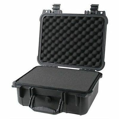 "14"" Weatherproof Hard Case Dry Box For DSLR HD Camera w/ Pelican 1400 Pluck Foam"
