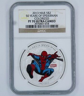 2013 Niue S $2 50 Years Of Spiderman Coin - Pf 70 Ultra Cameo - Ngc