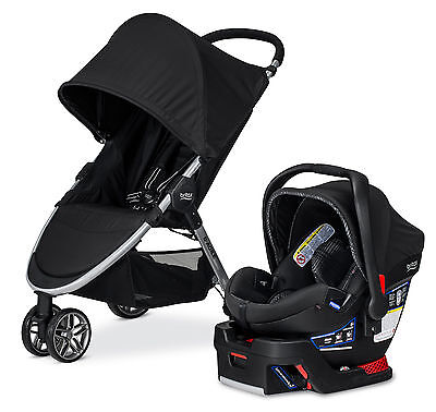 Britax B-Agile Stroller & B-Safe 35 Elite Travel System Domino NEW!