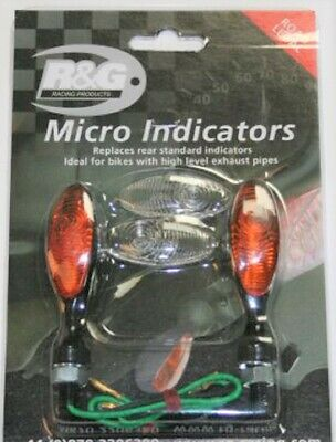 R&G RACING  ONE PAIR FRONT MICRO INDICATORS LED TYPE Aprilia Shiver 750 (2013)