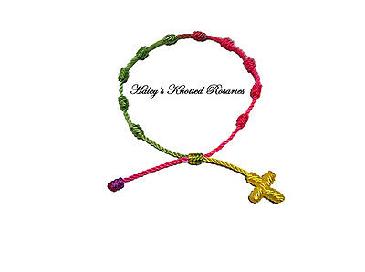 Knotted Rosary Bracelet - Multi-Colored