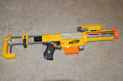Nerf N-Strike Yellow RECON CS-6 BLASTER GUN STOCK BARREL RED LASER SIGHT