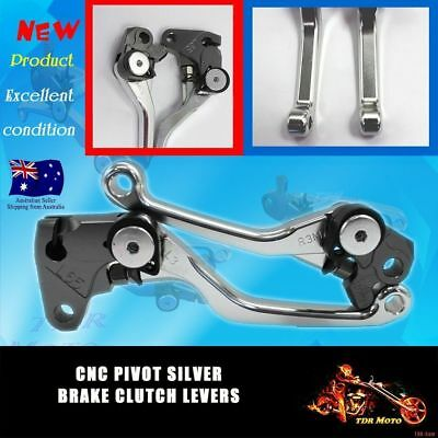 Pivot Brake Clutch Levers For Yamaha WR250F WR450F 2005-2015 Silver CNC Aluminum
