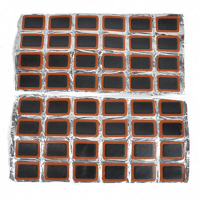 48Pcs Bike Bicycle Tyre Tire Tube Rubber Patches Puncture Repair Patch Glue Kit
