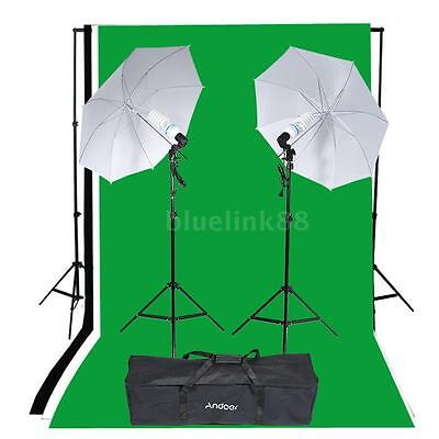 Photography Studio Portrait Product Lighting Tent Kit Photo Video Equipment Y7Q3